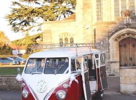 Splitscreen Campervan for weddings in Windsor